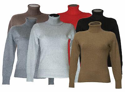 Pull Col Roulé Femme Cachemire Laine Tricot Vêtement Automne Hiver Tricot Chaud | eBay