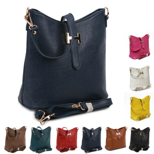 New Ladies Shoulder Tote Handbag Faux Leather Womens Cross Body Bag Hobo Purse