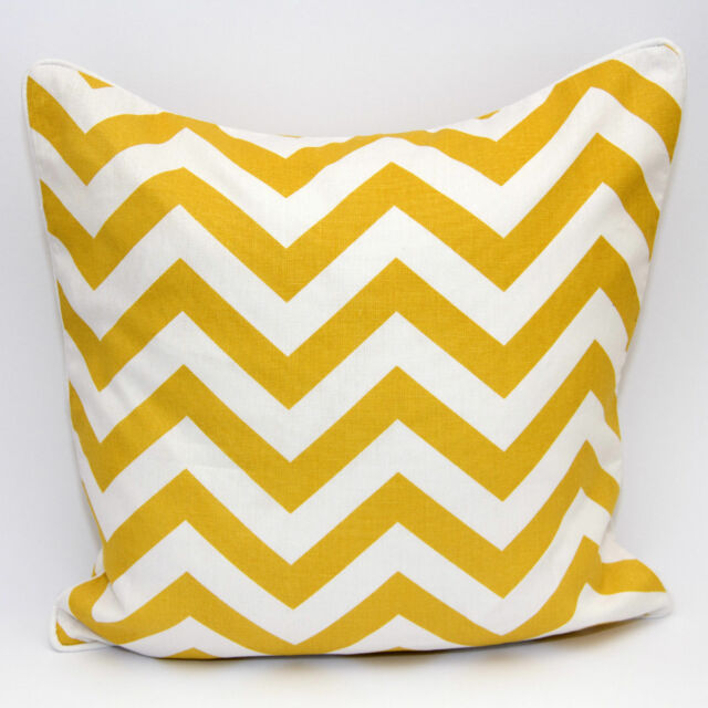 Chevron Stylish Cushion Cover 100% Cotton Decorative Pillow Cases 12x18 & 18x18