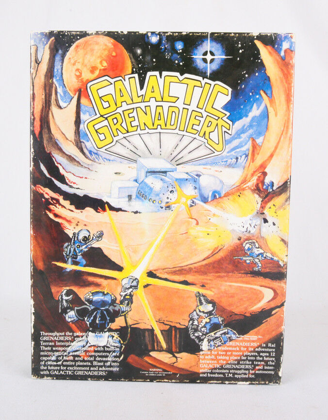 Galactic Grenadiers w Final Frontier Board Game, Ral Partha, Box VG, COMPLETE