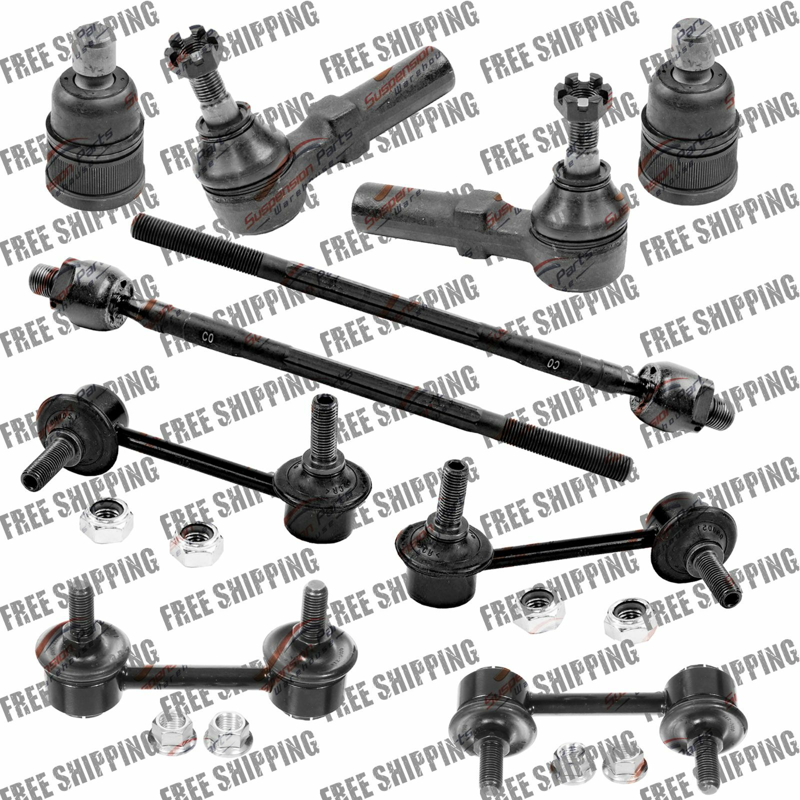 Front Steering Rebuild Kit Tie Rod End+Ball Joint Sway Bar