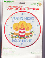 Counted Cross Stitch Kit: Silent Night Christmas 7 In Hoop