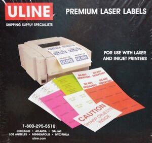Details about Uline Premium Laser Labels S-5627 1200 Labels 4 x 1 5