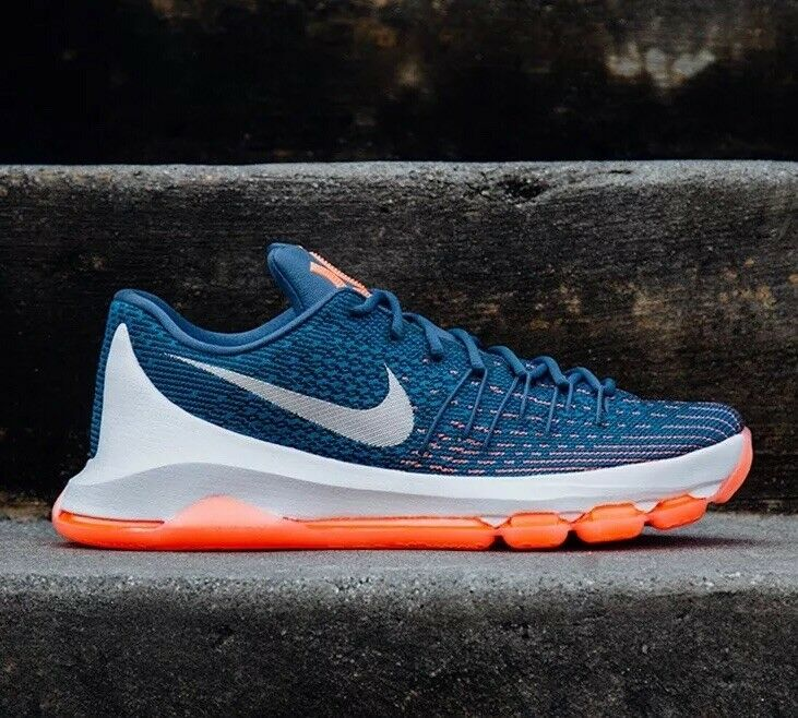 Nike Zoom KD 8 UK 14 49.5 749375-414 Kevin Durant Warriors Thunder NBA Ocean Fog