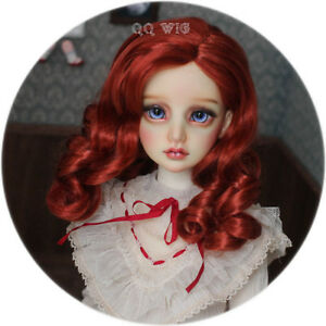 QQ-48C-Summer-Dream-Red-BJD-Doll-Synthetic-Mohair-Wig-1-4-1-3