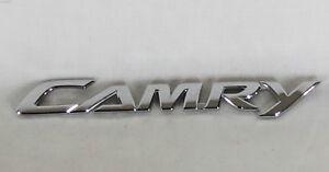 toyota camry emblem 07 11 back trunk oem chrome badge logo symbol sign name. Black Bedroom Furniture Sets. Home Design Ideas