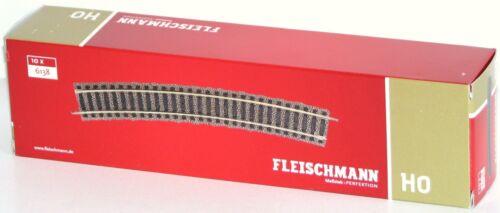 - NEU 18° Fleischmann H0 6138-S Gebogenes Gleis 10 Stück OVP