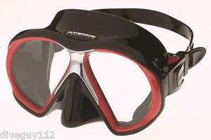 Atomic SubFrame Dive Mask for FreeDiving Scuba Snorkeling Black/Red
