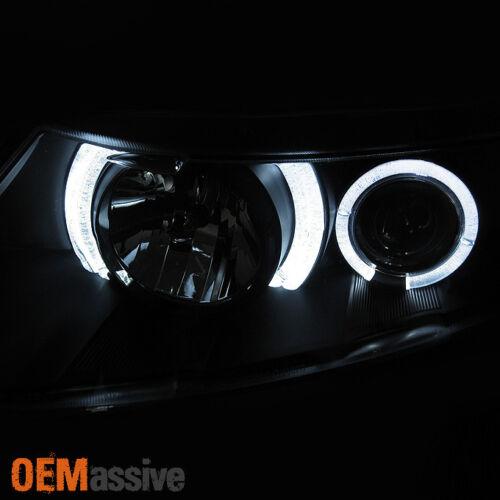 Fits 06-11 Honda Civic 2Dr Coupe Black Bezel Dual Halo Projector Headlights Lamp