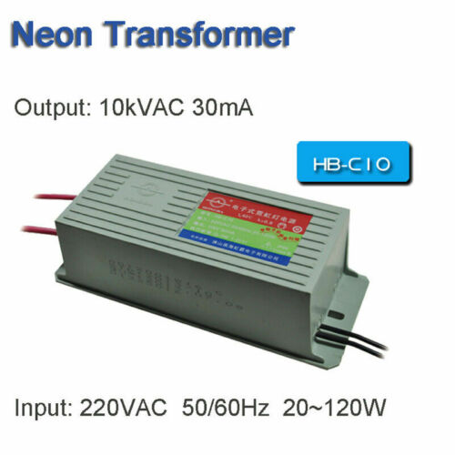 Neon Electronic Transformer 10KV30mA 100W Load 10M Neon Power Supply Rectifier