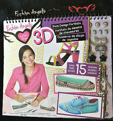 Fashion Angels 3 D Shoe Design Portfolio Book Find Your Wings Sketches Templates 787909118127 Ebay