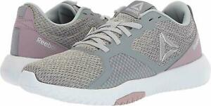 Reebok-Women-039-s-Froid-Gris-Lilas-Brouillard-Memoire-Tech-Flexagon-Force-Cross-Trainers-NEW