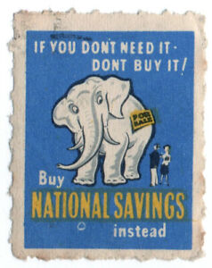 I-B-Cinderella-Collection-National-Savings-Publicity-Stamp-White-Elephant