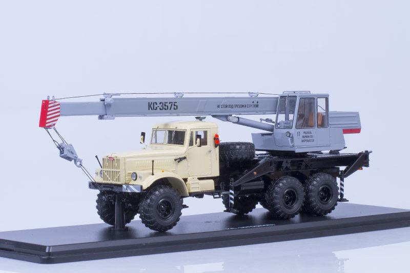 Grue KS-3575 sur Kraz 255B1 châssis de camion 1 43 Start Scale Models SSM1184