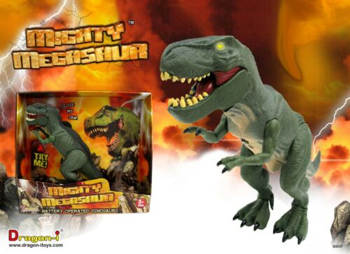 Mighty Megasaur Walking Biting Battery Dinosaur Moving Toy Robot Light Sound NEW