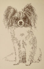 Papillon Dog Breed Art Print #47 Word Drawing Kline will add your dogs name free