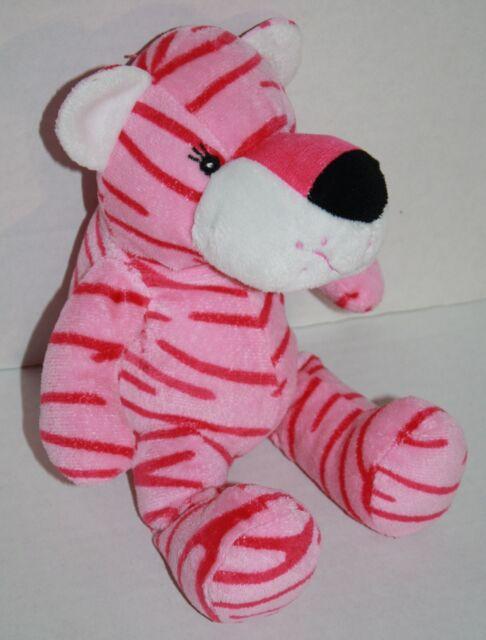 Fiesta Blanket Babies Pink Tiger 11 Baby Plush Stuffed Animal Toy