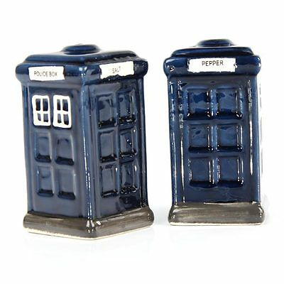 Ceramic Police Box, Dr Who TARDIS SALT AND PEPPER CRUET SET - Gift Boxed NEW