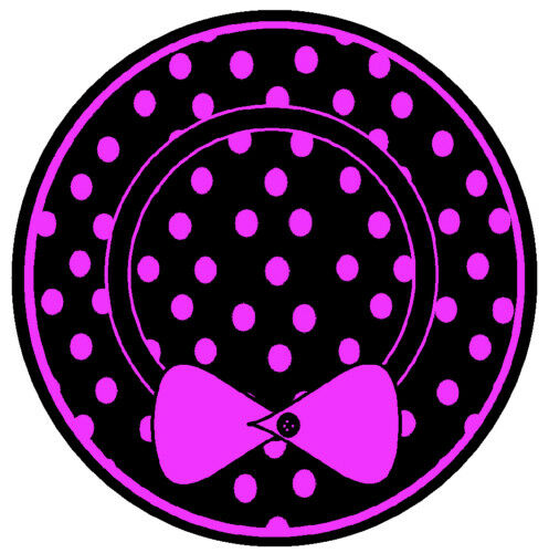 GIFTS BRAND NEW PINK AND BLACK DOT HAT FUN NOVELTY CAR TAX DISC HOLDER