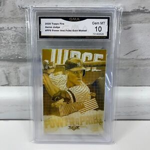 2020 Topps Fire Power & Pride Gold Minted Aaron Judge #PP-9 GMA Gem Mint 10