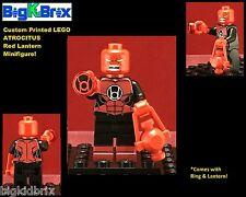 RED Lantern ATROCITUS DC Custom Printed LEGO Minifigure w/ Custom RING & LANTERN