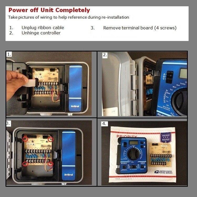🔥 Irritrol RD-1200-R Module W/ Board - Warranty Included - RD-1200 RD1200-EXT-R