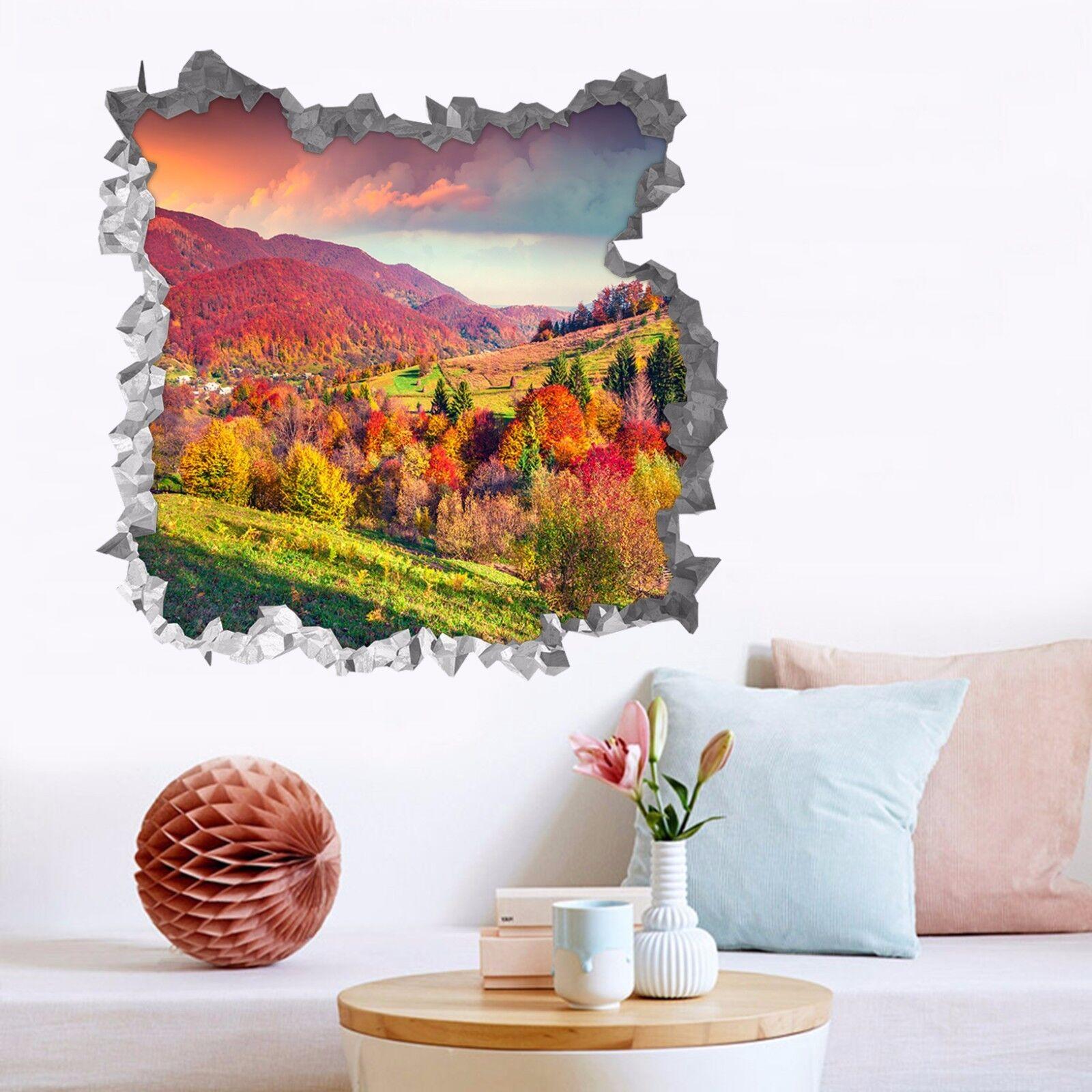 3D Farbe Wald 7454  Mauer Murals Mauer Aufklebe Decal Durchbruch AJ WALLPAPER DE