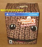 Ps4 Littlebigplanet 3 Plush Edition Sealed + Dlc Pack Playstation 4