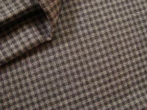 3-yd-Luxury-Super-120s-Fine-WOOL-Check-FABRIC-Suiting-8-oz-Dk-Gray-60-034-x-108-034-BTP