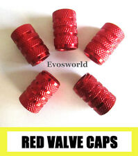 RED CHROME ALUMINIUM VALVE CAR TYRE DUST WHEEL CAPS LAND ROVER RANGE ROVER SPORT