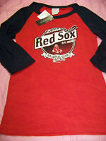 5th & Ocean Women's Boston Red Sox 3/4 Sleeve Burn Out Shirt Large
