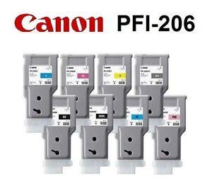 8-Original-Tinte-Canon-iPF6400-iPF6400S-iPF6450-PFI-206-MBK-BK-C-M-Y-Ink-300ml