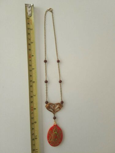 Vintage 1920s Egyptian Revival Pharaoh Necklace