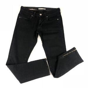 dbceb7d83 Image is loading Stella-McCartney-black-ankle-zip-skinny-jeans-size-