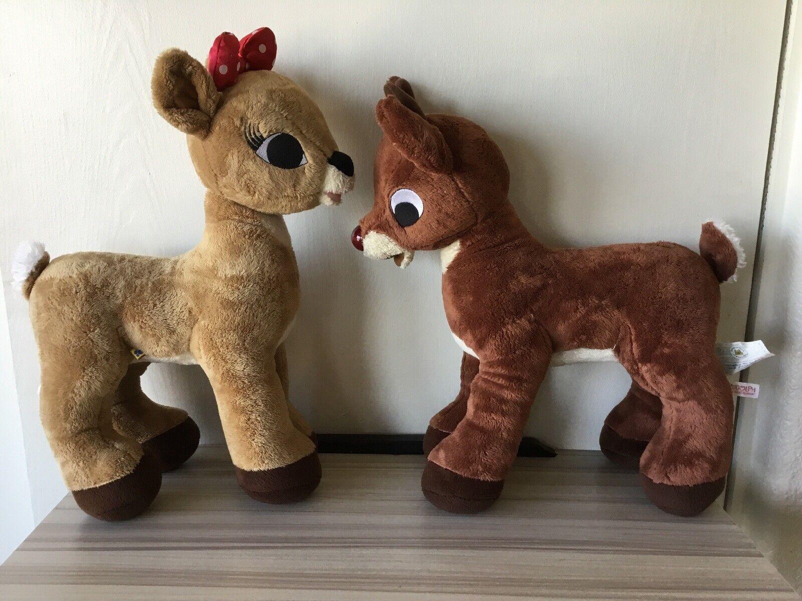 Clarice & Rudolph Build A Bear  Stuffed Plush Set BABW EE
