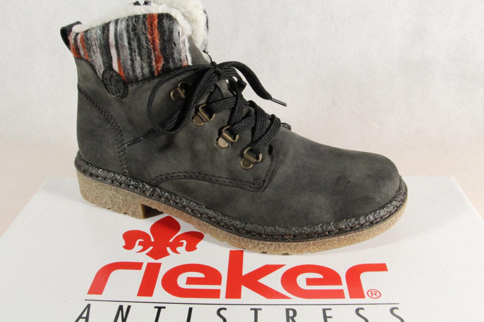 Rieker botas Mujer Mujer Mujer Botines botas de Cordón gris 73222 Nuevo  entrega gratis