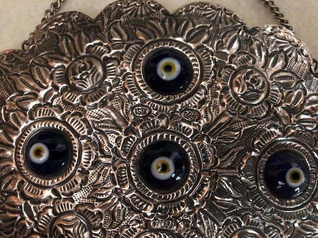 Vintage 925 Sterling Turkish Wedding Mirror - image 6
