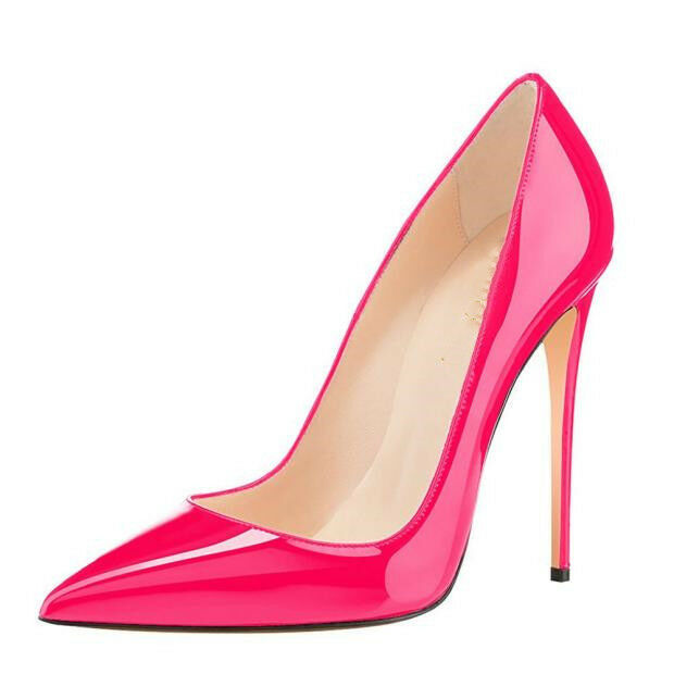 12 CM Ladies Super Super Super High Heels Stiletto Slip-on Solid Glossy Pumps shoes Party sz f144b4