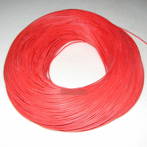 24AWG Red Soft Silicone Wire 10m Bending /& Cold-freeze /& High-temp Resistant