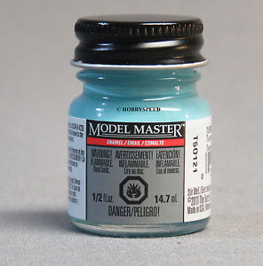 Details about TESTORS PAINT MODEL MASTER TURQUOISE ENAMEL 1/2oz plastic  model CAR TES2765