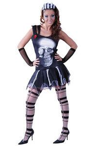 Disfraz-halloween-mujer-barato-zombie-calavera-gotico