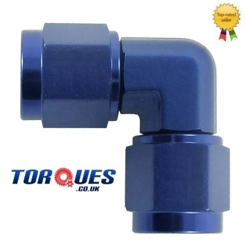 AN -6 (6AN ) 90 Degree Female to Female Forged Adapter