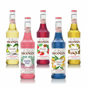 NEW Monin Coffee & Cocktail 25cl/250ml Glass Syrup Flavours-Combi