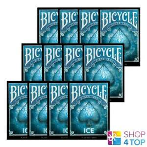 12-BICYCLE-ICE-SPIELKARTEN-DECK-MADE-IN-USA-ORIGINAL-BLAU-GLAZIAL-POKER-NEU