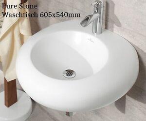 Villeroy Boch Waschbecken Pure Stone 517061R1 weiß Cplus 60cm ...