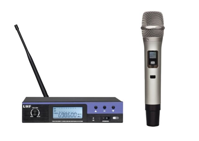 uhf professional wireless handheld vocal karaoke microphone for church speech for sale online ebay. Black Bedroom Furniture Sets. Home Design Ideas