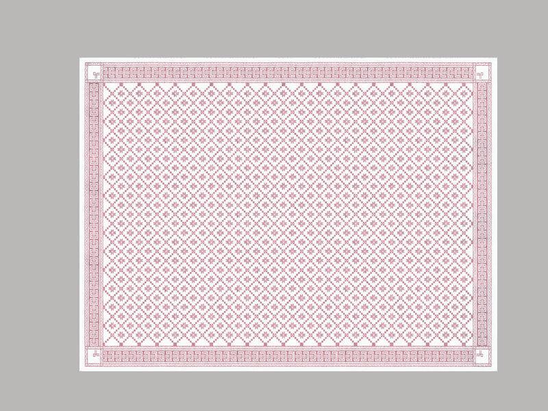 Ekelund Nappe Attebladrose 03 150 X 260 cm 45% Lin   55% Coton Biologique