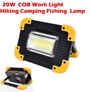 Projecteur LED Extérieur 20W USB Rechargeable Lampe de Travail Camping Portable