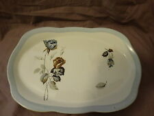 """Alfred Meakin England  Glo-White """"Sapphire Rose"""" Pattern Rectangular Tray"""
