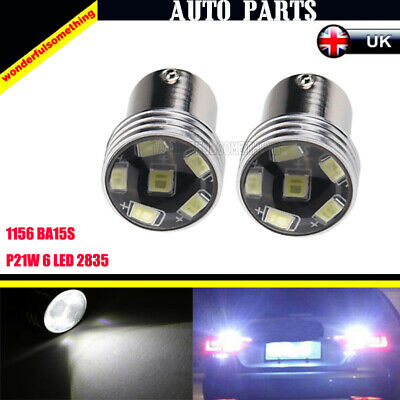 2 x HID White 1156 P21W 6-2835-SMD LED Projector Bulbs Backup Reverse Lights Hot